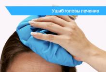 ушиб головы при падении лечение