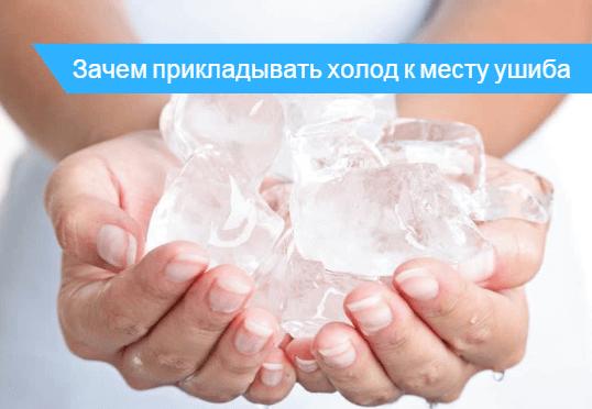 Как долго нужно прикладывать лед при ушибе
