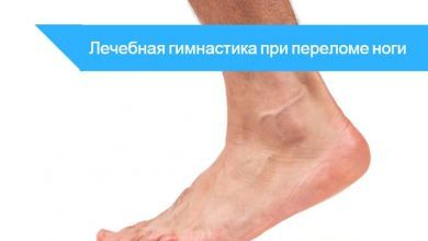 гимнастика лечебная при переломе лодыжки